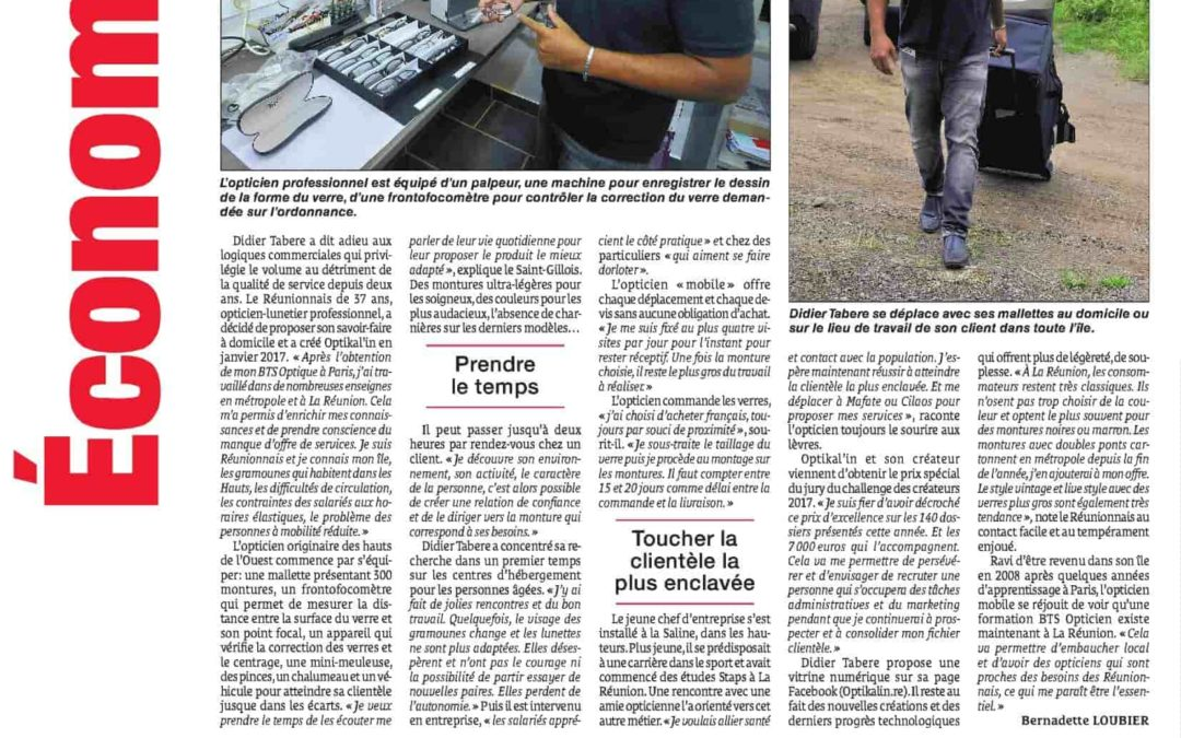 Article Optikal'in dans le journal: le Quotidien